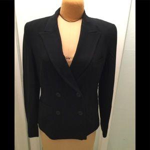Donna Karen Double Breasted Black Jacket
